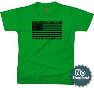 USA in Afghanistan War Army Military Funny New T shirt