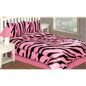 Wendy Fuchsia / Black Comforter Set:  Home & Kitchen
