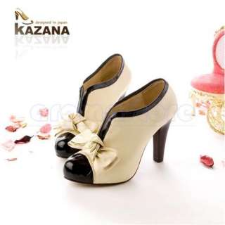 Lady Pump Shoes Ankle Boots Bow High Heels Platform Hot Sell