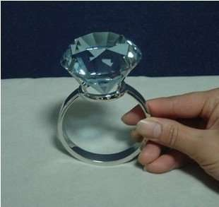 60MM Super large crystal ringBig Diamond ring ,Wedding decoration