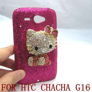 Bling hello kitty HARD CASE SKIN COVER FOR HTC CHACHA G16