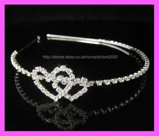Silver Wedding/Bridal crystal veil tiara headband CR160