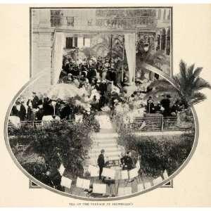 com 1910 Print Shepheard Hotel Cairo Terrace Costume Fashion Balcony