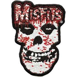 THE MISFITS BLOODY SKULL EMBROIDERED PATCH: Home & Kitchen