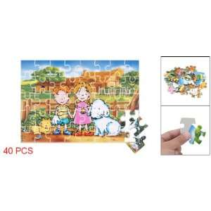 Children Pet Dog House Paper Jigsaw Puzzle Toy for Kids Toys & Games