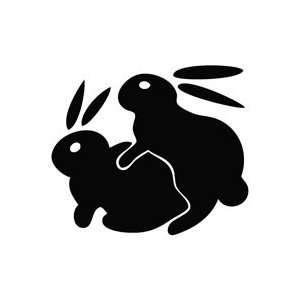 Bunny Rabbits Humping Sexy   Funny Decal Vinyl Car Wall