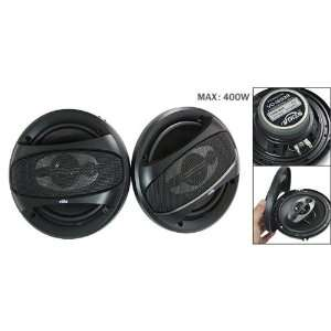 Gino 2 PCS 400 Watt Black Auto Car Stereo System Audio