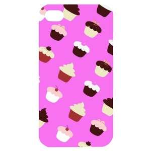 NEW Cup Cakes Image in iPhone 4 or 4S Hard Plastic Case Cover