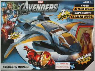 Avengers Quinjet Attack Mode with Iron Man Marvel The Avengers Jet