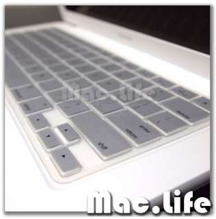SILVER Silicone Keyboard Cover for Macbook White 13