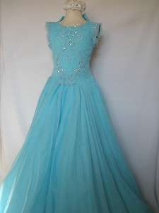 New Girl Glitz National Pageant Wedding Party Formal Dress Aqua size6