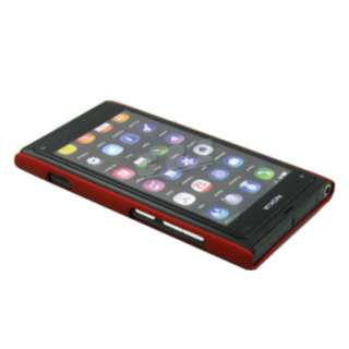RUBBER CASE BACK COVER + LCD FILM FOR NOKIA LUMIA 800 N800 c
