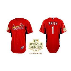 St. Louis Cardinals Authentic MLB Jerseys Ozzie Smith RED