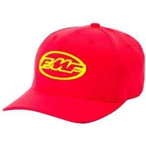 FMF Podium III Mens Flexfit Race Wear Hat   Red / Small