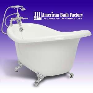 67 Slipper Clawfoot Tub CH Faucet Drain & Supply Lines