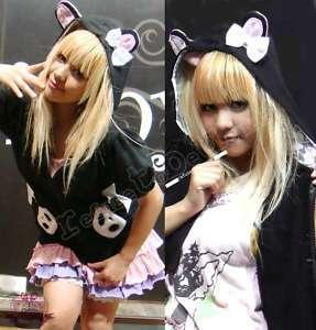 Cutie PANDA BABY PRINCESS Cosplay Teddy Hoody Jacket Bk