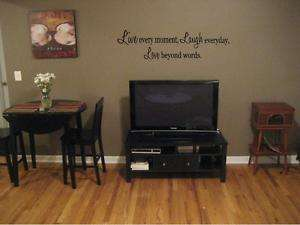 LIVE EVERY MOMENT Wall Art Decal Home Decor