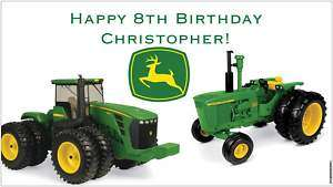 Custom John Deere Classic or Pink Birthday Party Banner