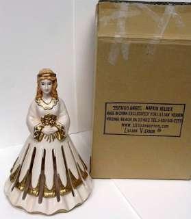 ceramic/pottery/porcelain angel napkin holder made by Lillian Vernon