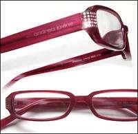Andrea Jovine Rhinestone 2.50 Reading Glasses Wine Red Optical Frame