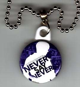 JUSTIN BIEBER Never Say Never Pendant Necklace  cd 026