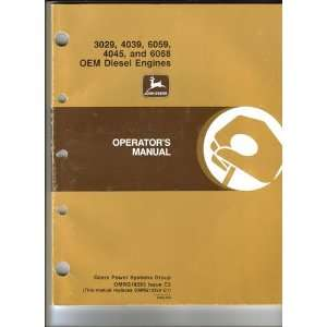 John Deere Operators Manual , OEM Diesel Engines (3029