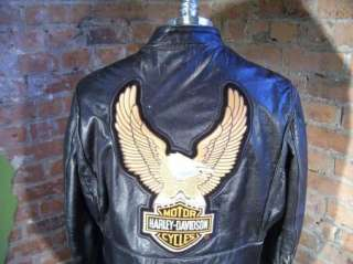 VTG 60s Kehoe Harley Davidson Steerhide Leather Cafe Motorcycle