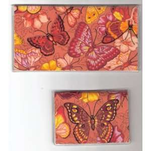 Cover Debit Set Made with Butterfly Orange Fabric