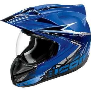 Icon Variant Dual Sport Motorcycle Helmet Salvo Blue LG Automotive