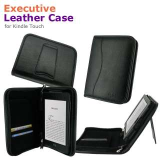 Leather Case Cover for  Kindle Touch Latest Model Black