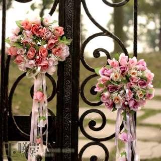 25cm 9.8 HOT PINK ARTIFICIAL SILK WEDDING BRIDAL ROSE FLOWER RIBBON