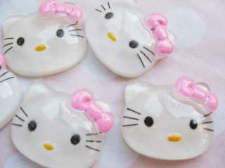 Wholesale* 30 Resin Hello Kitty Beads/Bow Free Ship