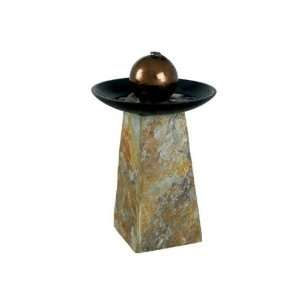Kenroy Home Sleek Indoor Table fountain in Natural Slate finish is 18