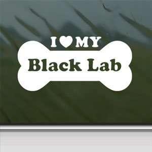 Lab White Sticker Car Vinyl Window Laptop White Decal Arts, Crafts