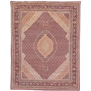 Herati Collection TH27 Hand Knotted Red Wool Square Area Rug, 8 Feet