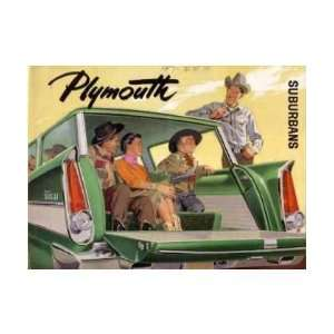 com 1957 PLYMOUTH SUBURBAN Sales Brochure Literature Book Automotive