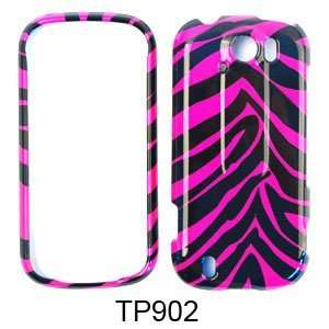 Pink and Black Zebra Stripe Pattern Snap on Cover
