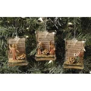 Set of 6 Fontanini Holy Family Angel Scroll Christmas