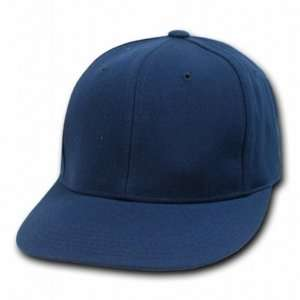NAVY BLUE RETRO FITTED BASEBALL CAP HAT CAPS SIZE 7 3/8