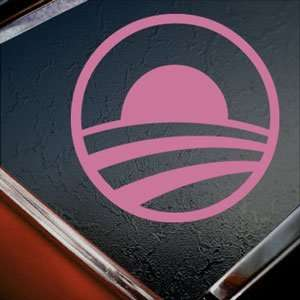 BARACK OBAMA Pink Decal Car Truck Bumper Window Pink