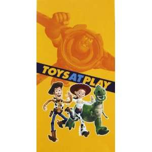 Toy Story 3 Toys at Play Woody Beach Towel 30 x 60 100%