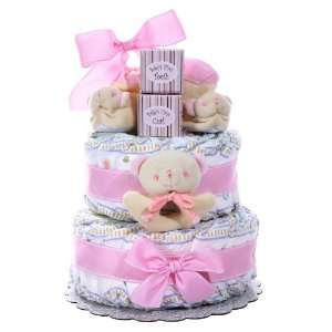 Girls Two Tier Diaper Cake Baby