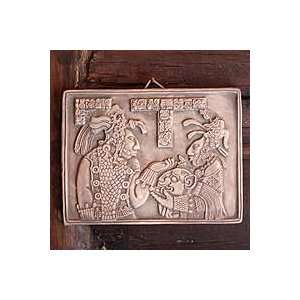NOVICA Ceramic wall plaque, Maya Ruler and Wife Home & Kitchen