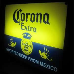 Corona Extra Beer Cerveza Neon Light Box Pub Bar Sign