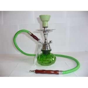 10 1 Hose Mini Pumpkin Glass Hookah Green