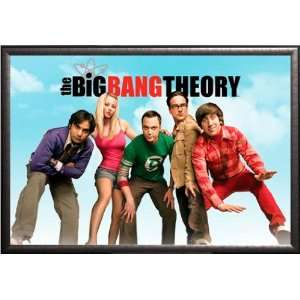 Big Bang Theory   Group 22x34 Dry Mount Poster Silver Wood Framed