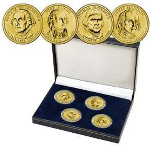 2007 24k Gold Plated Presidential Coin Collection