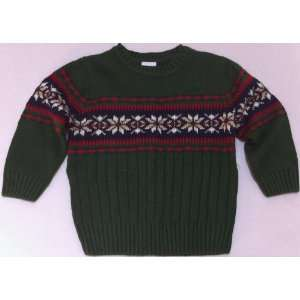 2t Green Winter Christmas Holiday Snow Flake Sweater: Everything Else