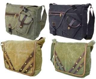 MILITARY INSPIRED CANVAS MESSENGER BAG BACKPACK