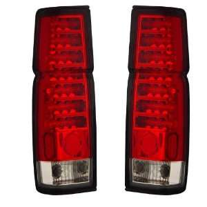 1986 1997 Nissan Hardbody KS LED Red/Clear Tail Lights Automotive